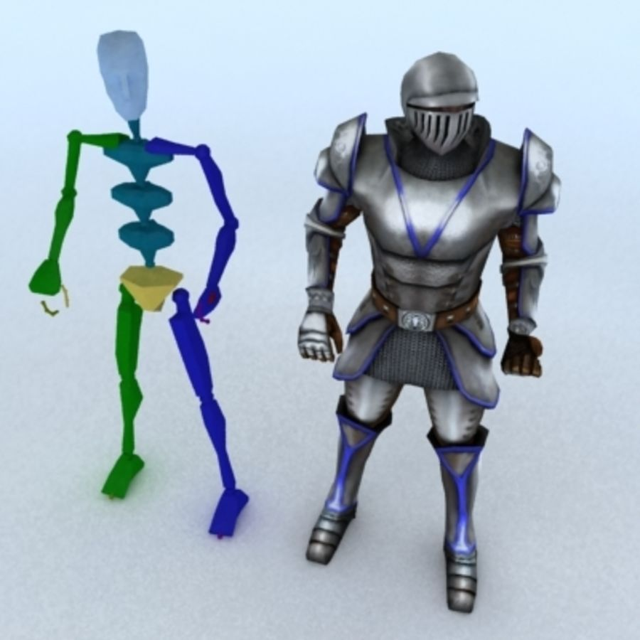 Medieval Warrior royalty-free 3d model - Preview no. 4