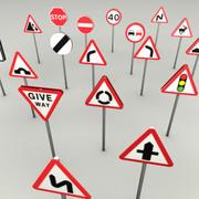 Road signs UK 3d model