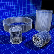 Air and Oil Filters Collection 01 3d model
