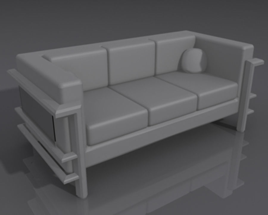 DR Couch 1.max royalty-free 3d model - Preview no. 4
