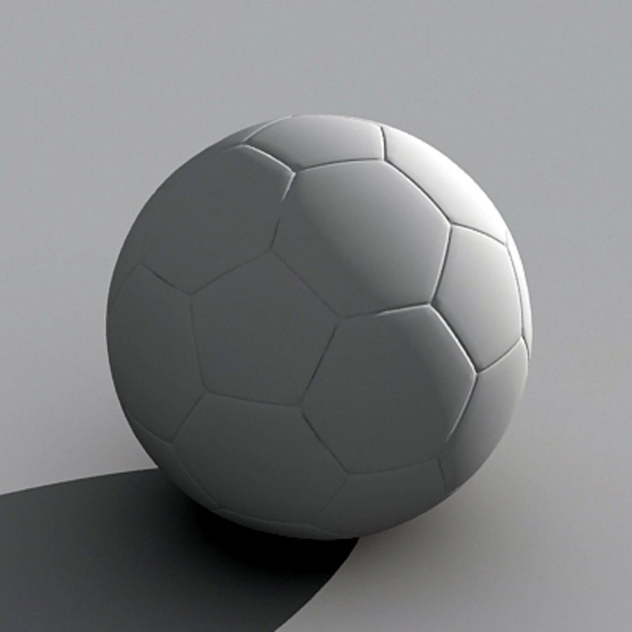 Soccerball royalty-free 3d model - Preview no. 5