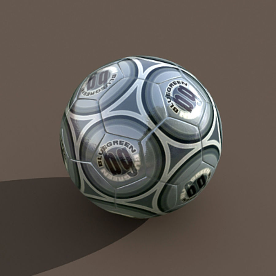 Soccerball royalty-free 3d model - Preview no. 1