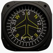 Compass Aircraft Instrument 3d model