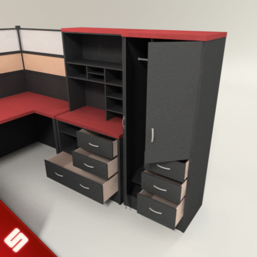 Büro Masası ve Mobilya royalty-free 3d model - Preview no. 4