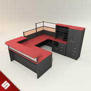 Office Desk and Furniture 3d model