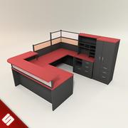Schreibtisch und Möbel 3d model