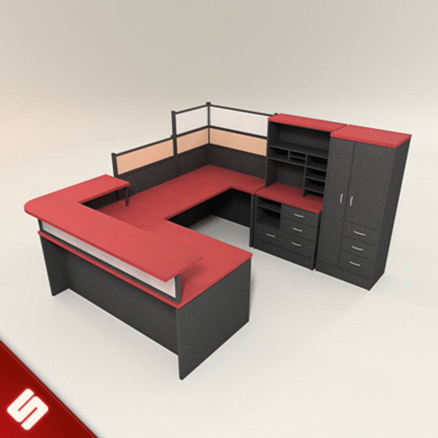 Bureau en meubilair royalty-free 3d model - Preview no. 1