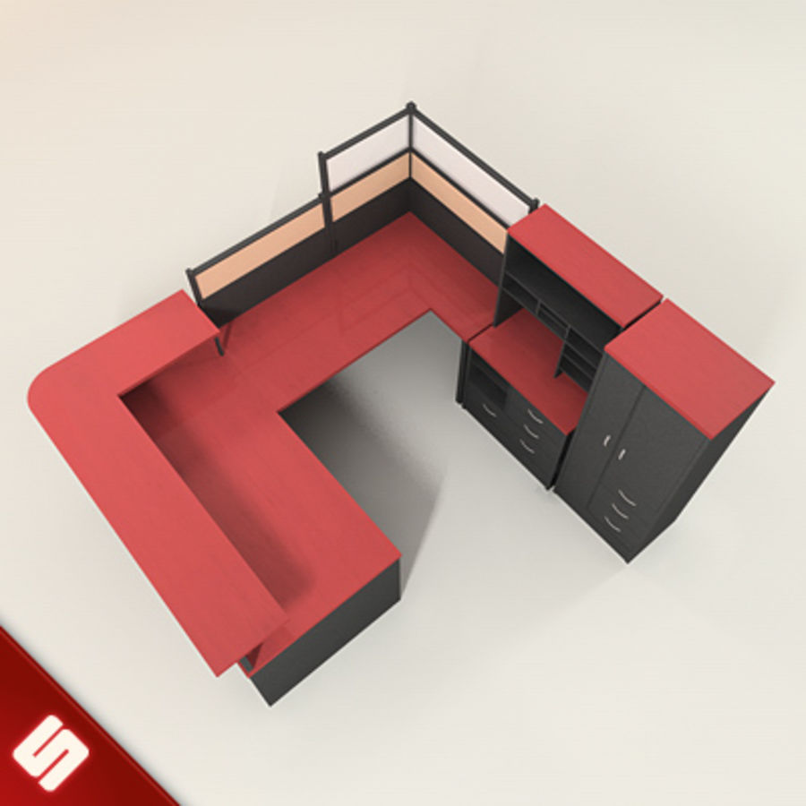 Bureau en meubilair royalty-free 3d model - Preview no. 2