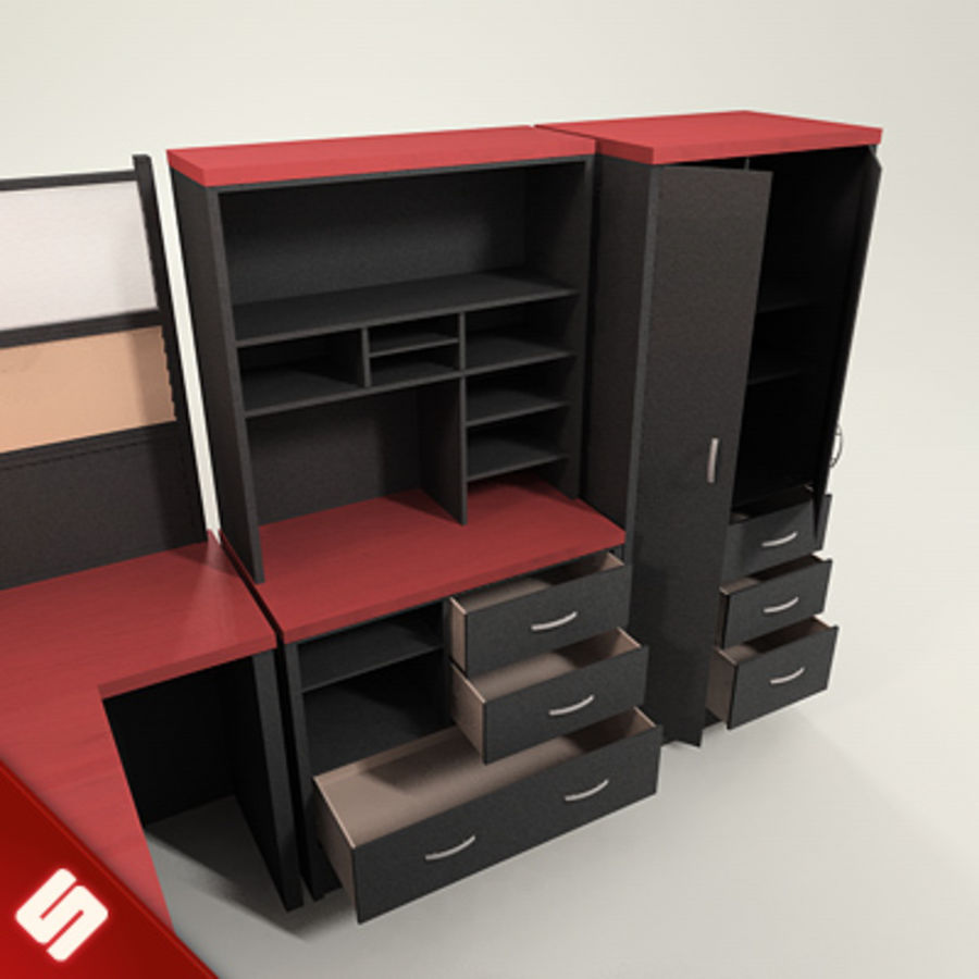 Bureau en meubilair royalty-free 3d model - Preview no. 5