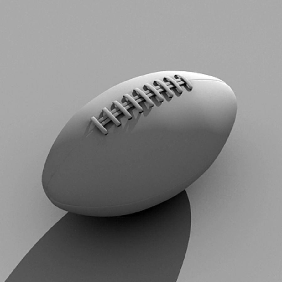 American Football Ball royalty-free 3d model - Preview no. 5