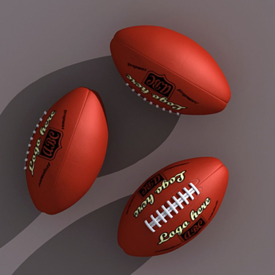 American Football Ball royalty-free 3d model - Preview no. 3