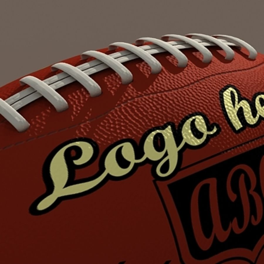 American Football Ball royalty-free 3d model - Preview no. 4