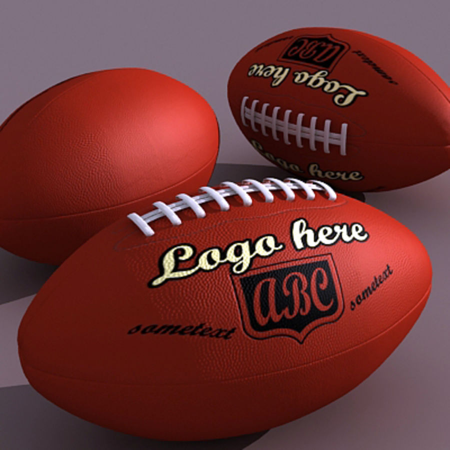 American Football Ball royalty-free 3d model - Preview no. 2