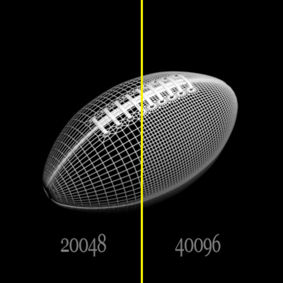 American Football Ball royalty-free 3d model - Preview no. 6