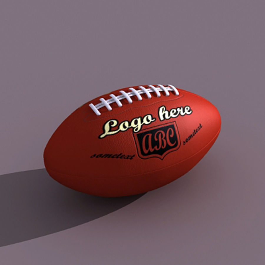 American Football Ball royalty-free 3d model - Preview no. 1