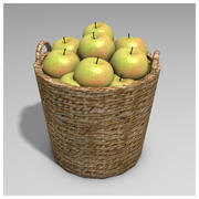 Basket of apples 3d model