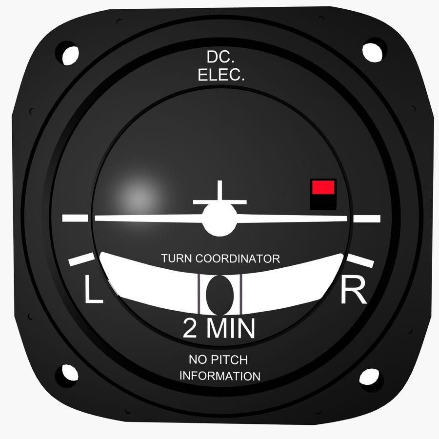 Coordinador de aeronave del avión royalty-free modelo 3d - Preview no. 3