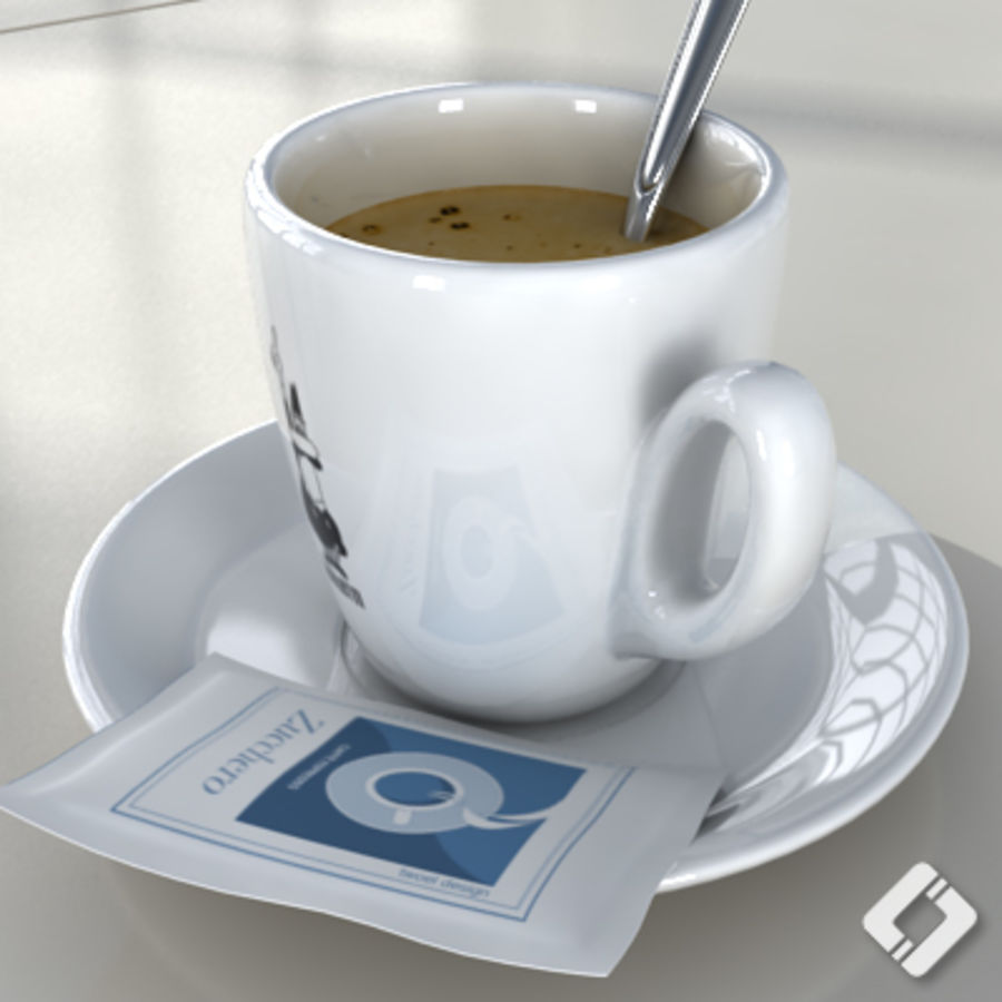 Bialetti coffee cup royalty-free 3d model - Preview no. 3