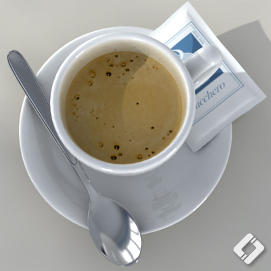 Bialetti coffee cup royalty-free 3d model - Preview no. 4