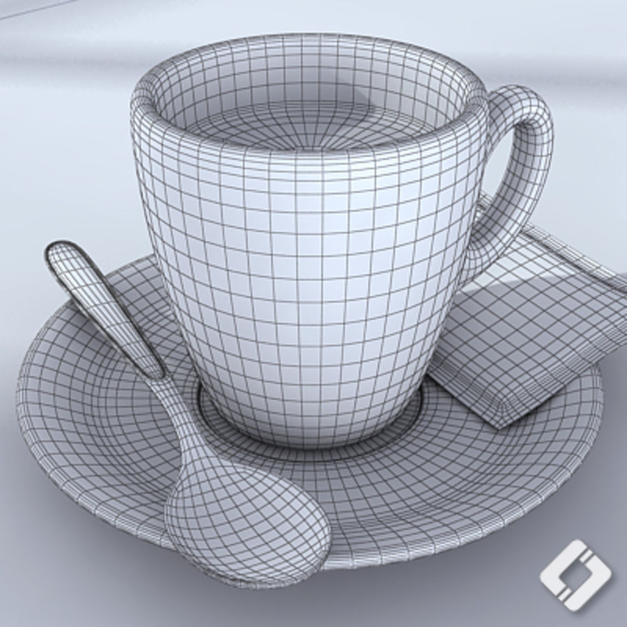 Bialetti coffee cup royalty-free 3d model - Preview no. 6