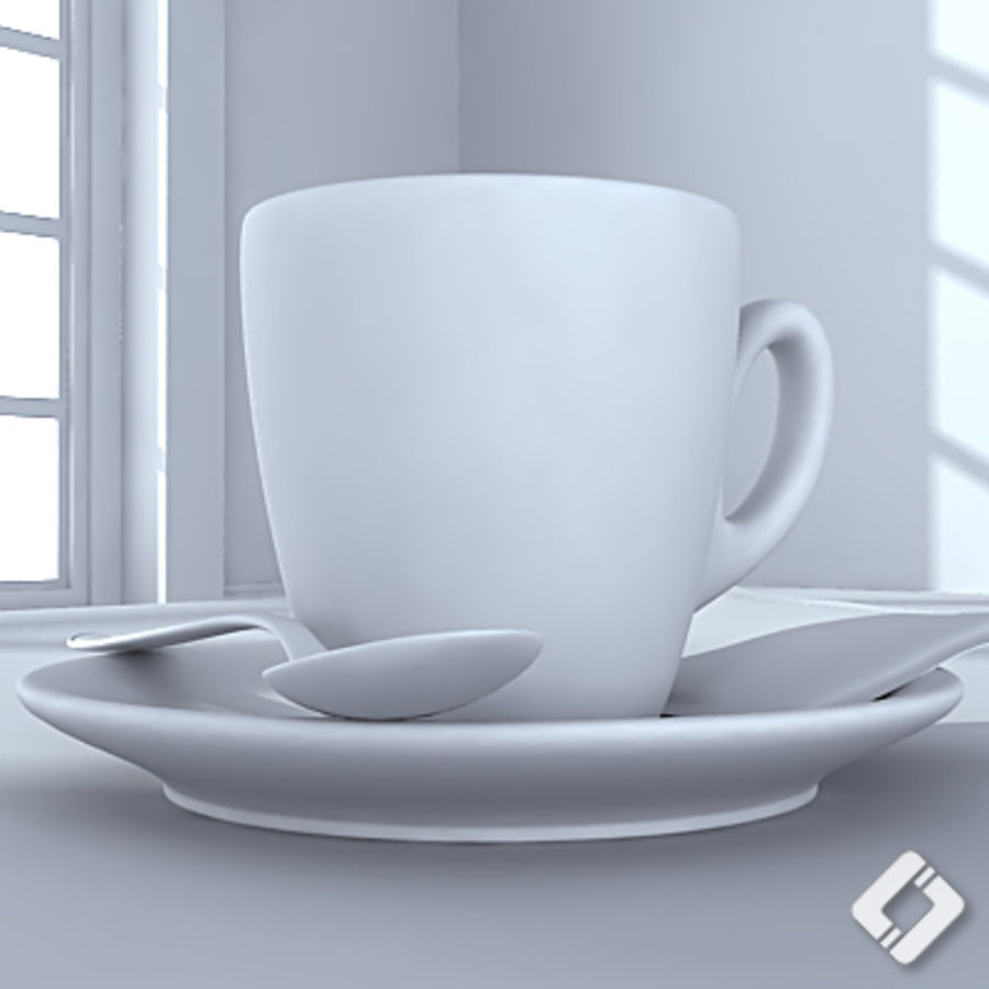 Bialetti coffee cup royalty-free 3d model - Preview no. 5