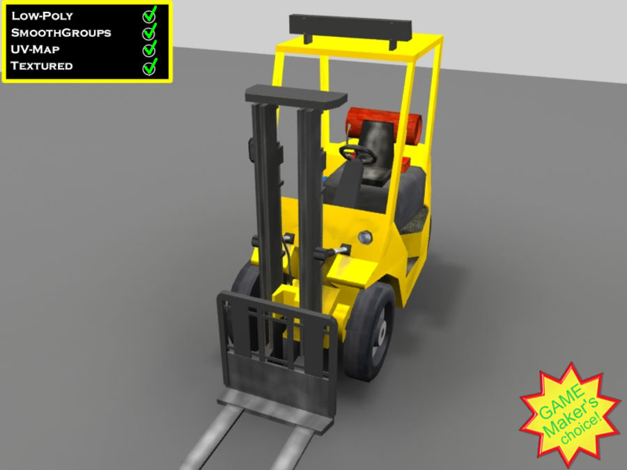 Forklift - Le jeu est prêt! royalty-free 3d model - Preview no. 1