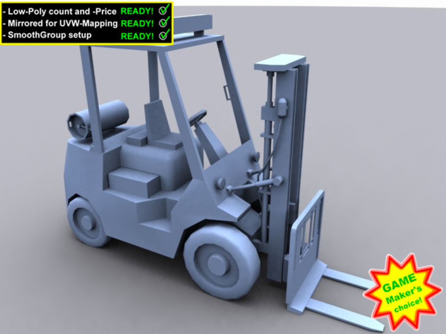 Forklift - Le jeu est prêt! royalty-free 3d model - Preview no. 3