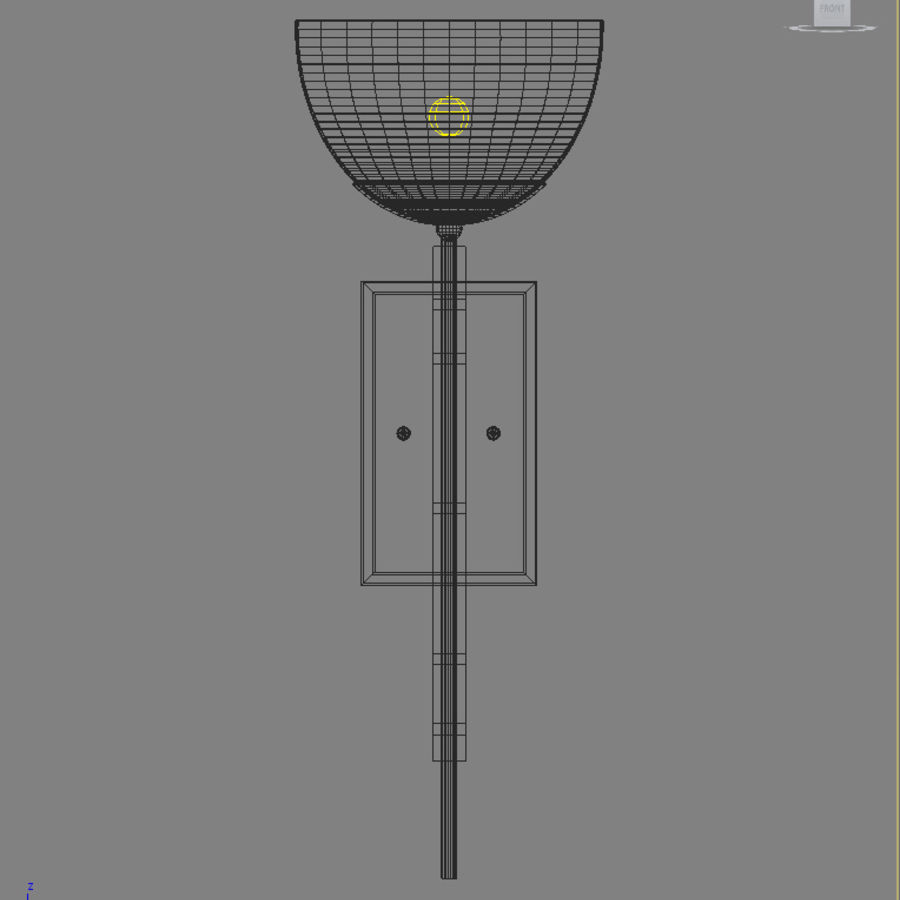 Ambrato Wall Fixture royalty-free 3d model - Preview no. 2