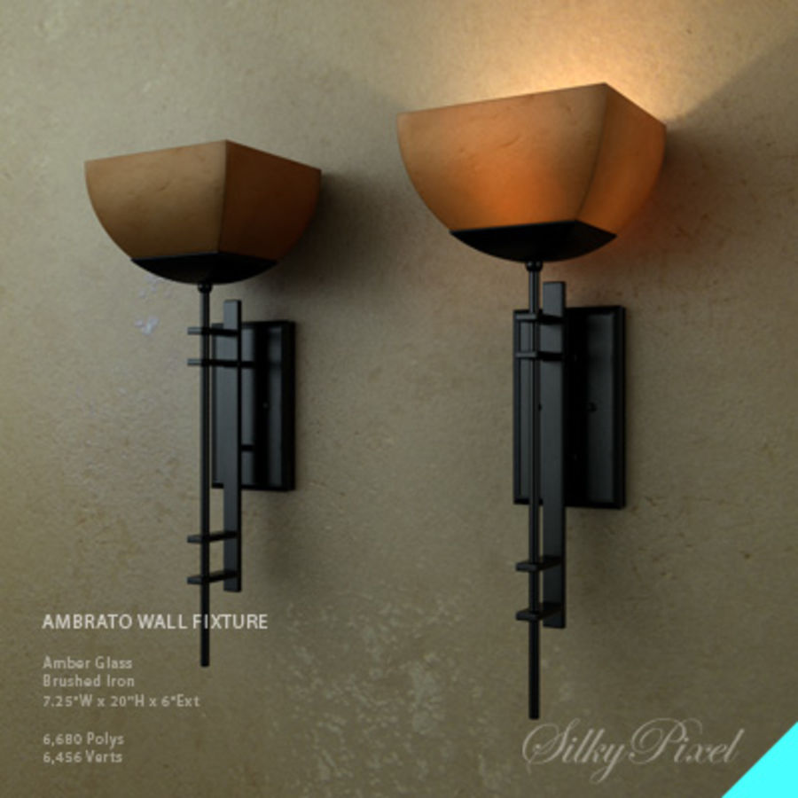 Ambrato Wall Fixture royalty-free 3d model - Preview no. 1