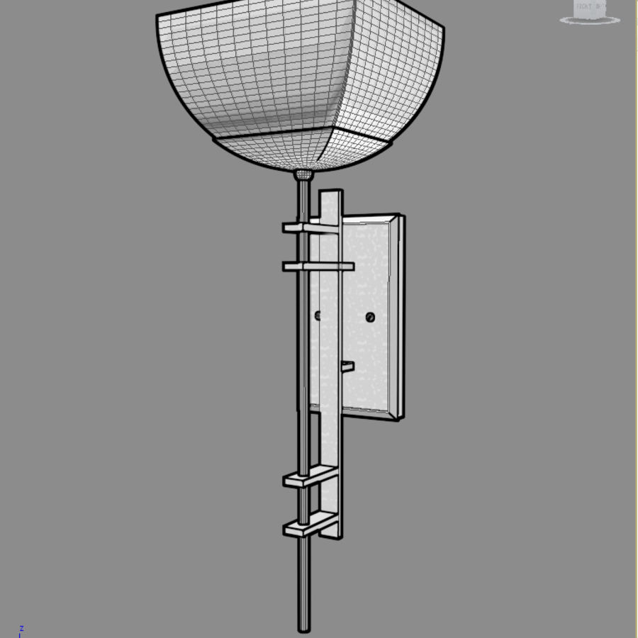 Ambrato Wall Fixture royalty-free 3d model - Preview no. 3