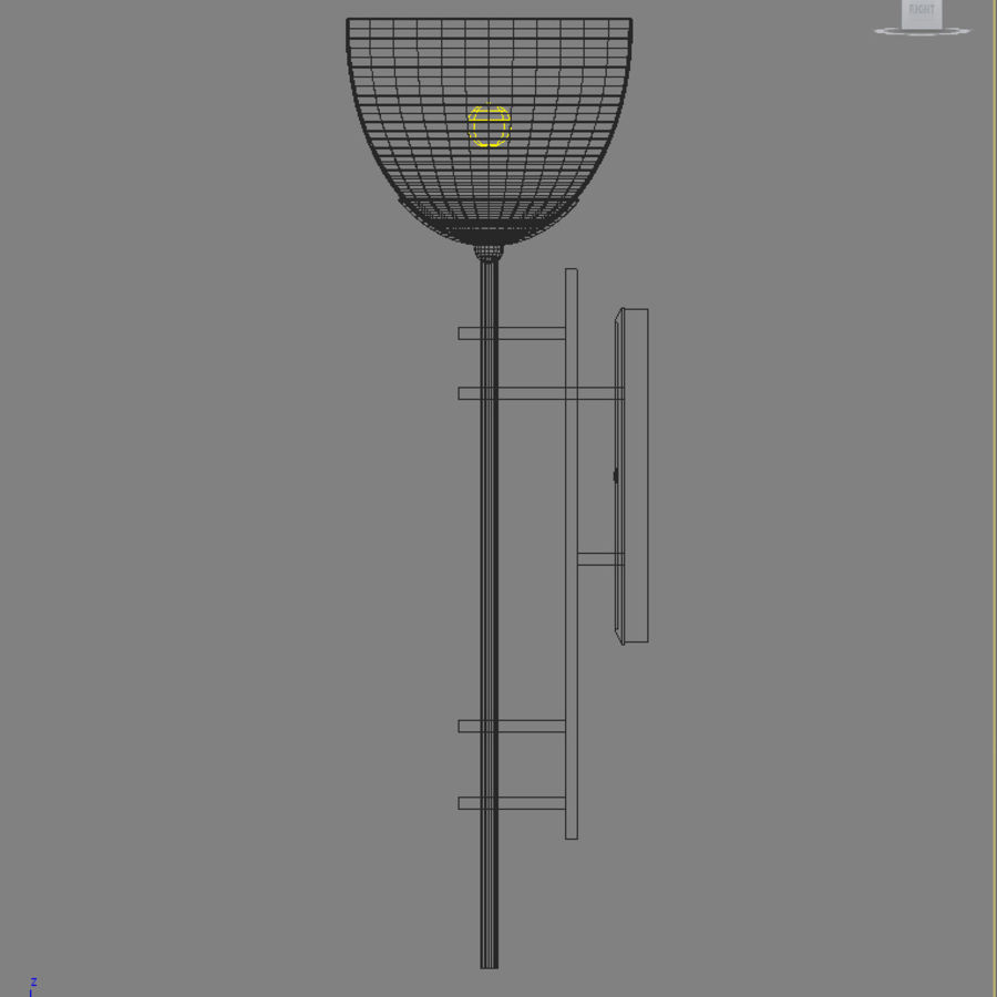 Ambrato Wall Fixture royalty-free 3d model - Preview no. 4