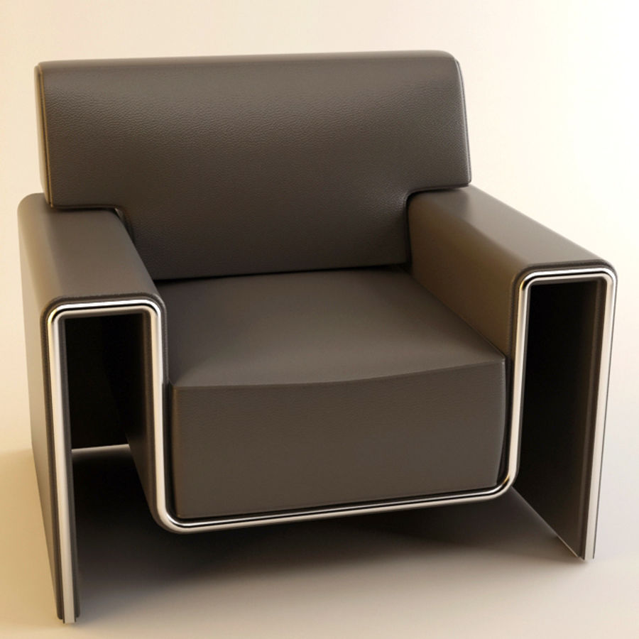 leather armchair royalty-free 3d model - Preview no. 4