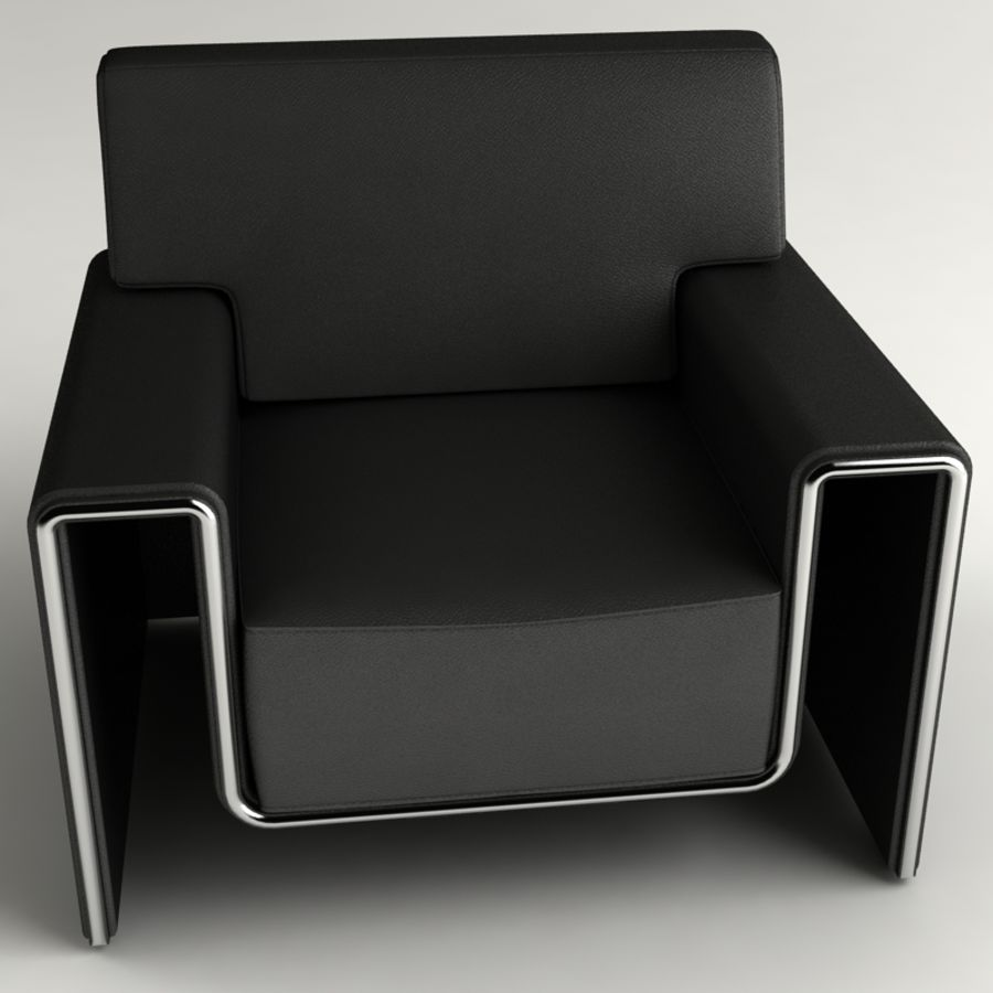 leather armchair royalty-free 3d model - Preview no. 1