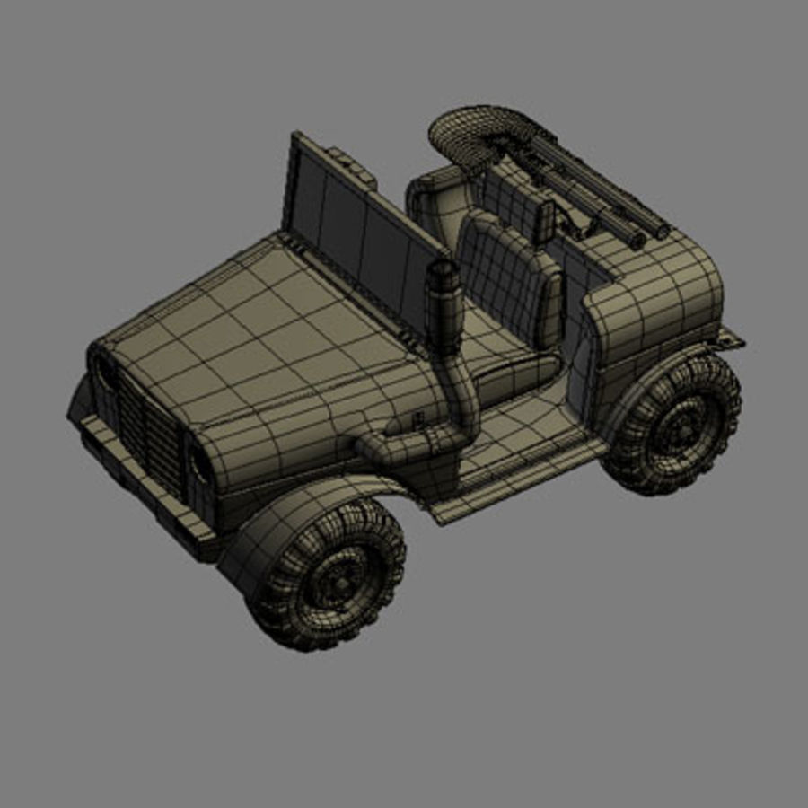 SUV 4x4 royalty-free 3d model - Preview no. 10