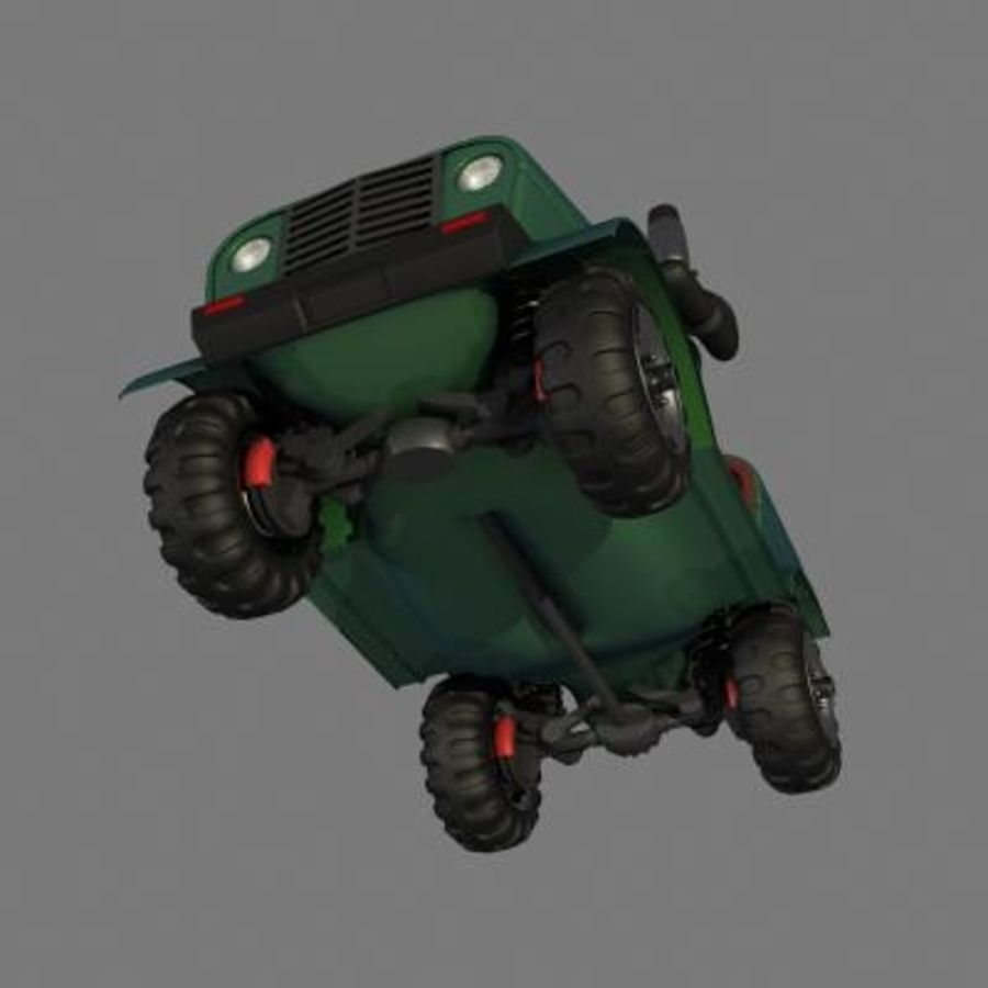 SUV 4x4 royalty-free 3d model - Preview no. 4