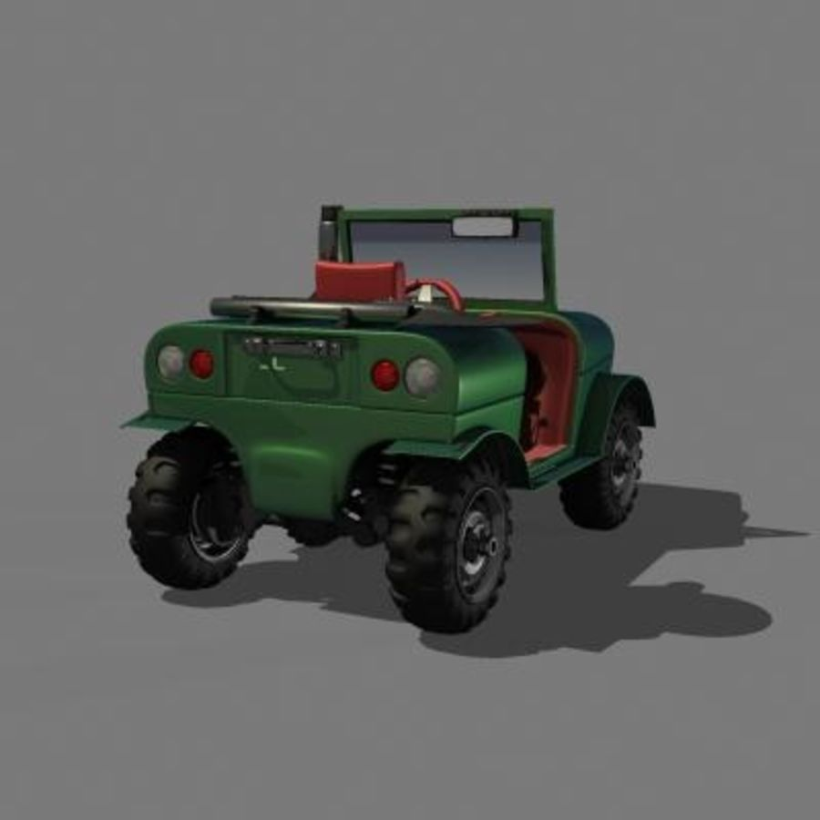 SUV 4x4 royalty-free 3d model - Preview no. 7