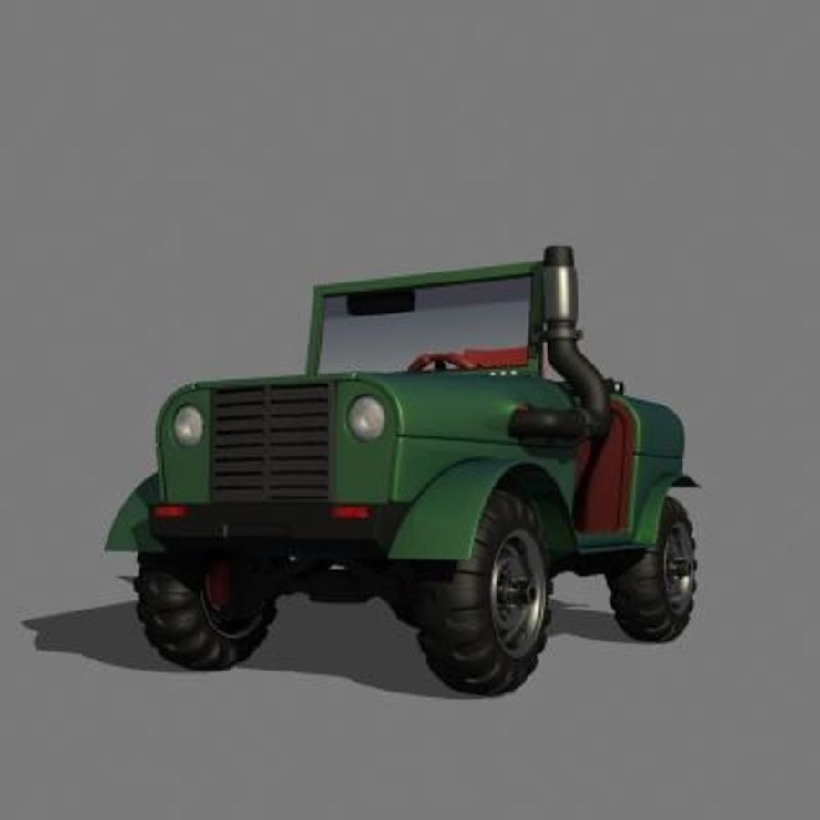 SUV 4x4 royalty-free 3d model - Preview no. 3