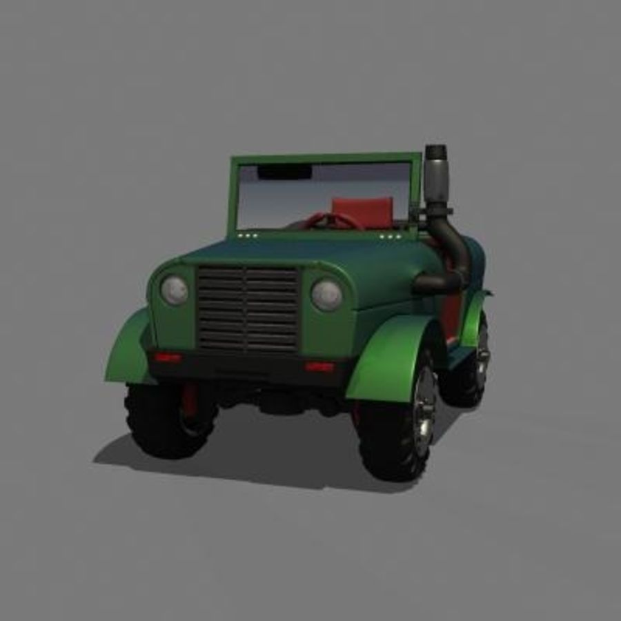 SUV 4x4 royalty-free 3d model - Preview no. 6