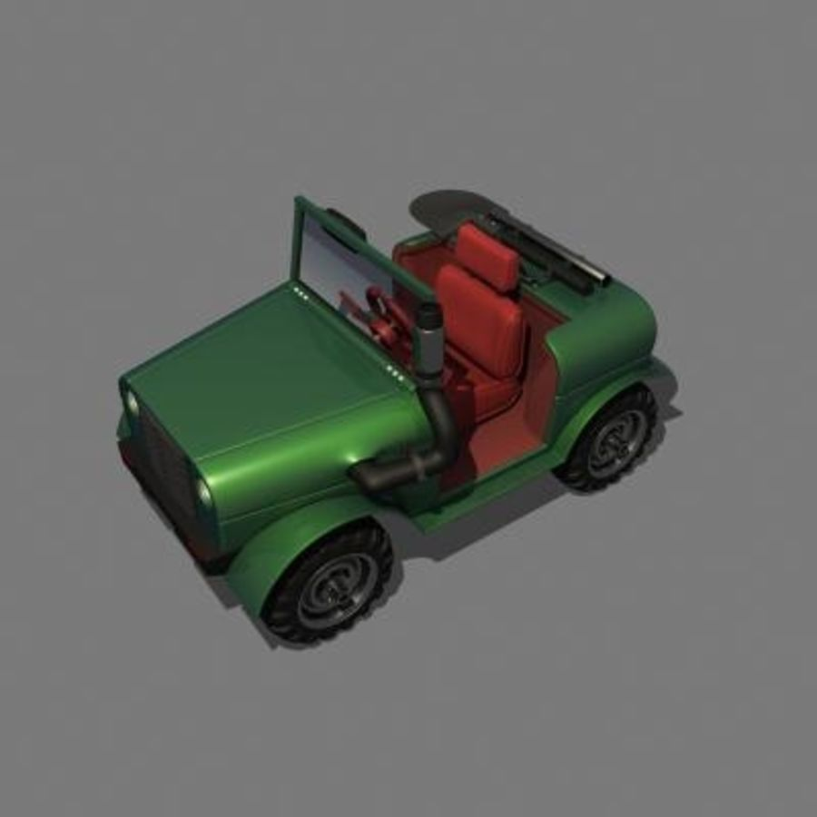 SUV 4x4 royalty-free 3d model - Preview no. 2