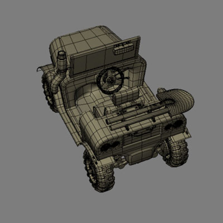 SUV 4x4 royalty-free 3d model - Preview no. 9