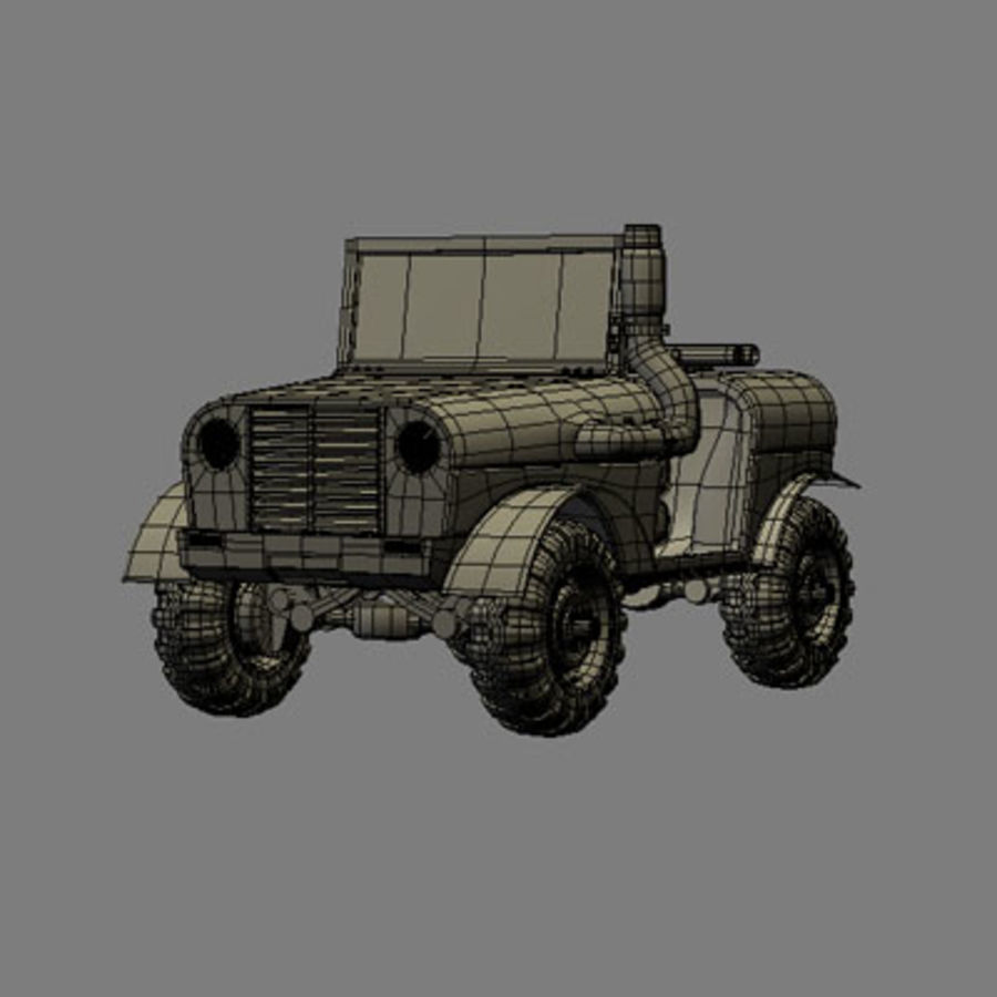 SUV 4x4 royalty-free 3d model - Preview no. 8