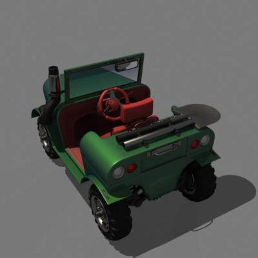 SUV 4x4 royalty-free 3d model - Preview no. 5