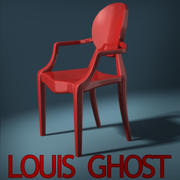 Louis Ghost Chair 3d model