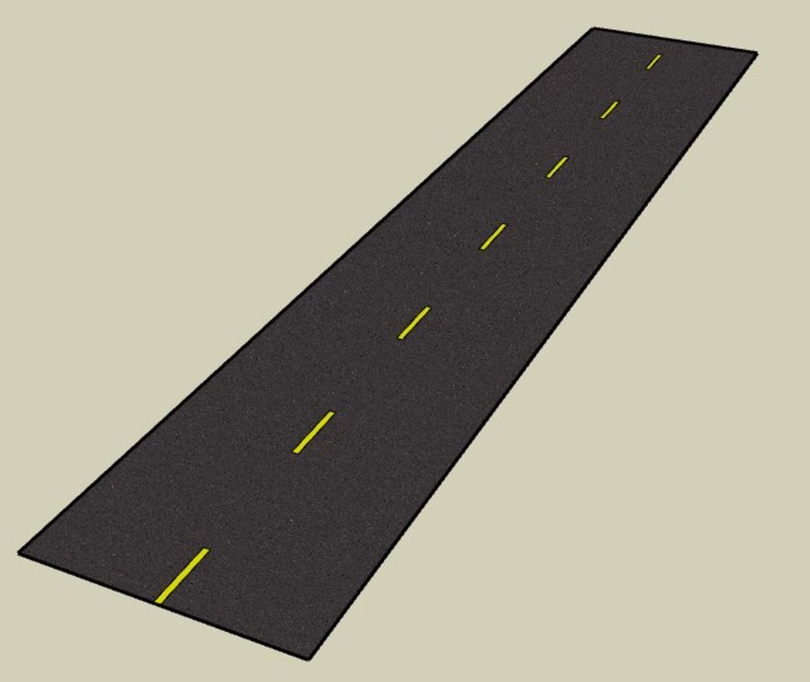 Generic Road royalty-free 3d model - Preview no. 1