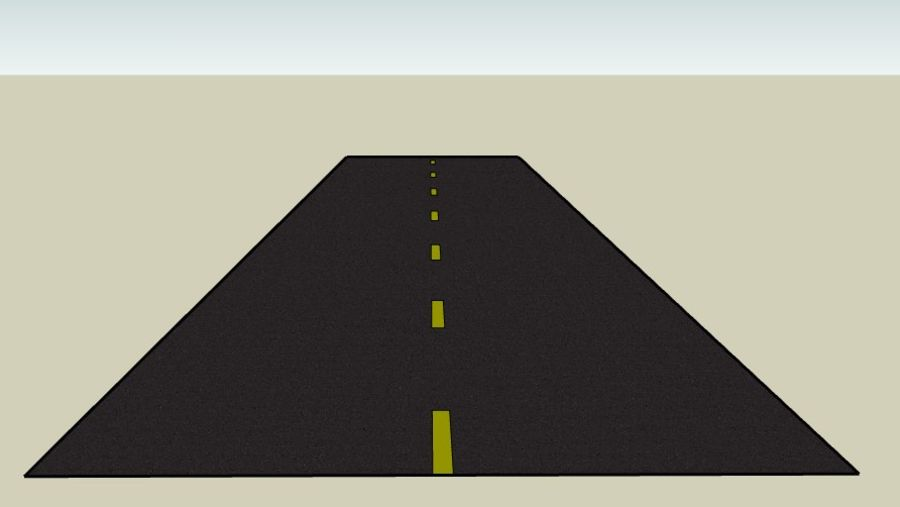 Generic Road royalty-free 3d model - Preview no. 2