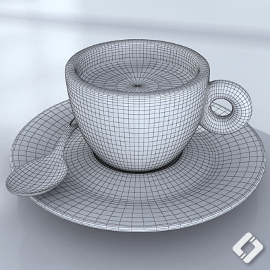 illy coffee cup royalty-free 3d model - Preview no. 6