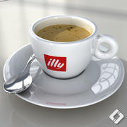 illy coffee cup 3d model