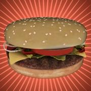 Cheese-burger 3d model