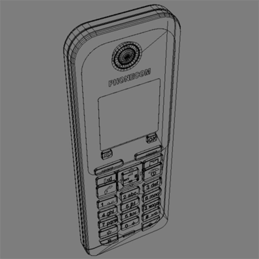 3D_Coordless phone.zip royalty-free 3d model - Preview no. 1
