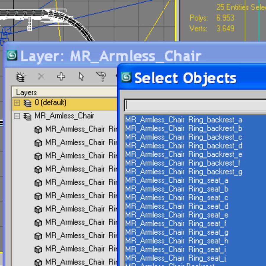 MR Kolsuz Sandalye royalty-free 3d model - Preview no. 2